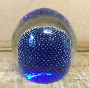 LARGE SPECTACULAR VINTAGE JAFFE ROSE GLASS PAPERWEIGHT