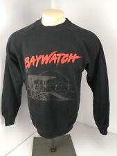 Baywatch Vtg 1995 Sweatshirt PUFFY PAINT USA MADE M/L Pamela Anderson Lifeguard