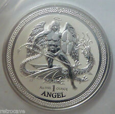 2016 Isle of Man Angel Reverse Proof 1oz .999 Silver Bullion Coin