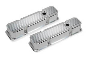 Chevy Small Block Vintage Style Finned Valve Covers Mr Gasket 6814G