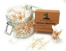 200 (1 Box) Bamboo Cotton Buds | Cotton Swabs Made from Organically Grown Bamboo