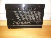 Skalenglas aus Telefunken Markstein II  855 W - Röhrenradio Ersatzteile