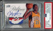 2007-08 UD Exquisite Kevin Durant RPA RC NBA Logoman Patch PSA PSA/DNA AUTO 10