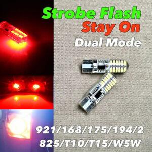 STROBE STAY 3rd Brake T10 921 175 194 168 Red CANBUS LED W1 For Chevrolet
