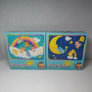 Lot of 2 Care Bears Rose Art 100 Piece Jigsaw Puzzle No. 86496