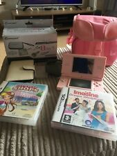Nintendo DS Lite pink, used, with 2 games, carry case, games case, charger etc