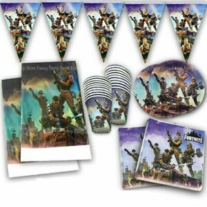 Battle Royal Birthday Party Tableware Plates, Napkins, Cups, Flags, Balloons Boy