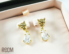Juicy Couture Leopard Drop Earrings with box