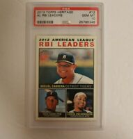2013 Topps Heritage 2012 AL RBI Leaders #12 PSA 10