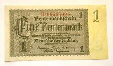 1937 Germany 1 Rentenmark Uncirculated Banknote