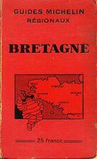 GUIDES MICHELIN REGIONAUX. BRETAGNE. 1931-1932.