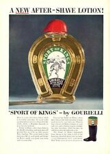 1951 Sport of Sports After Shave Lotion Gourielli Polo Vintage Bottle PRINT AD