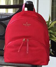 Kate Spade Karissa Nylon Large Backpack Tote Bag Favorite Red Gift