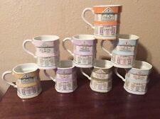 New ListingLenox Village 8 Coffee Mugs Complete Set Used 1992