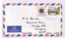 BQ148 1975 Jamaica Devon Great Britain Airmail Cover {samwells}PTS