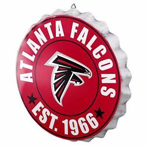 """Atlanta Falcons Bottle Cap Sign - Est 1966 - Room Bar Decor NEW 13.5"""""""
