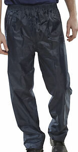 B-Dri BDRI NBDT Nylon Waterproof Over Trousers Leggings Rain Navy Sizes S - XXXL