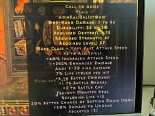 Diablo 2 Resurrected D2R Softcore PC - Call to Arms CTA 6/1/2