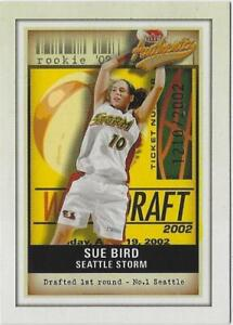 2002 FLEER AUTHENTIX SUE BIRD #101 RC ROOKIE SEATTLE STORM  #1210/2002