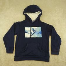 Mountain Warehouse Sweater Youth 7 - 8 Years Blue Snowboard Graph Kids Boys *