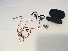 Beats Powerbeats by Dr Dre with case ear buds headphones red black SLV mic wired