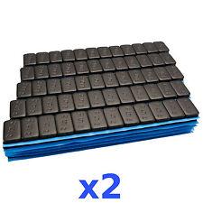 2x 6KG 12kg nero Premium PESI EQUILIBRATURA 12x5g PESI ADESIVI 200 BULLONE