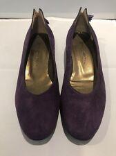 Designer Mauro Teci Leather Ballet Flats w Tassels - Purple Suede -  Size EU36.5