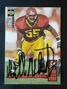 WILLIE MCGINEST PATRIOTS AUTOGRAPHED SIGNED 1994 UPPERDECK ROOKIE FOOTBALL CARD