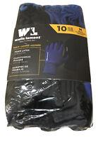 10 Pack Wells Lamont Men's Foam Latex Work Gloves, Medium  NEW
