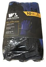 10 Pack Wells Lamont Mens Foam Latex Work Gloves Medium New