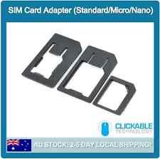 3 in 1 Nano Micro to Micro Standard SIM Card Adaptor Tray For iPhone 6 5 4S iPad