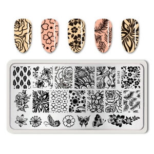 BORN PRETTY Nail Art Stamping Image Plates Stencil Flower Butterfly Templates