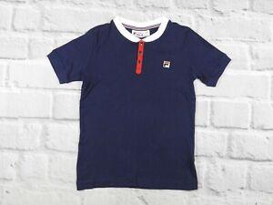 Fila White Line Vintage Retro Tennis Polo Shirt Top Size S