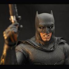 "1/6 Scale BVS Bruce Wayne Batman Helmet/Cape For 12"" Figure Body Hot Toys"