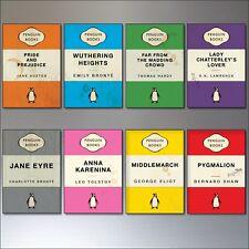 Penguin Classic Vintage Book Cover Design Fridge Magnets Set of 8