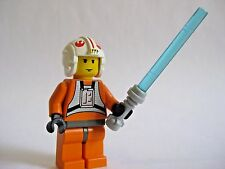 Lego LUKE SKYWALKER Pilot Minifigure + Lightsaber 4483 4500 7130 7140 7142