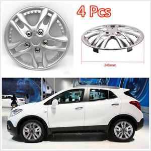 4 Pcs/Set Chrome ABS Plastic 12Inch Car Automotive Hub Caps Hubcap Wheel Covers