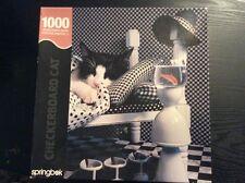 SPRINGBOK JIGSAW PUZZLE CHECKERBOARD CAT 1000 PCS