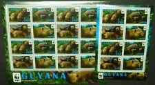 Guyana 2011 WWF Waldhund Bush Dog Hund 8194-97 Kleinbögen  MNH