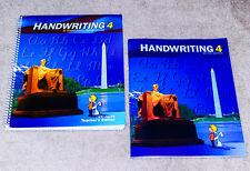BJU Bob Jones (4th grade) HANDWRITING 4 SET - Student Workbook & Teacher Edition