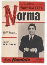 Spartito NORMA Tony Dallara 1963 Sheet music S.F. Garay