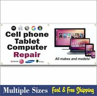 CELL PHONE REPAIR BANNER sign iphone apple computer tablet 002