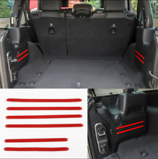 Red Rear Tail Trunk Cargo Cover Trim Decoration Fit 2018-2020 Jeep Wrangler JL