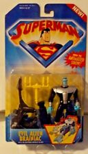 DC Superman The Animated Show Evil Alien Brainiac with Blasting Space Sled MOSC