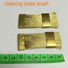 2 pcs high quality Dental Lab carbide drill bit cleaning brass brush-shiyudie