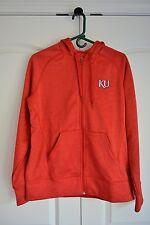 Red Adidas Kansas Zip-Up Hoodie Large