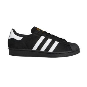 Adidas Superstar ADV Black White Gold Unisex Skateboard Shoes