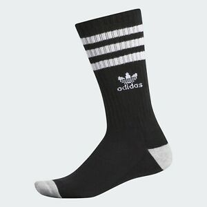 adidas Originals Roller Crew Socks 6-12 Black / White