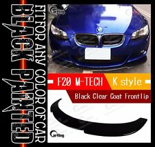 CARKING 11-13 GLOSSY BLACK PAINTED F20 M TECH M SPORT K style FRONT LIP SPOILER