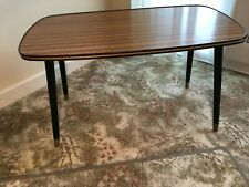 Vintage/Retro Mid Century Teak Effect 1960s Coffee Table with Dansette legs